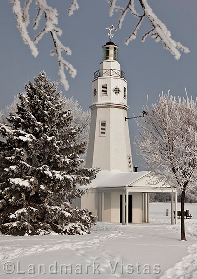 Neenah Lighthouse with Frost